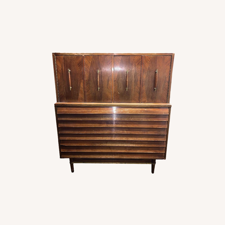 American of Martinsville Highboy Dresser - image-0