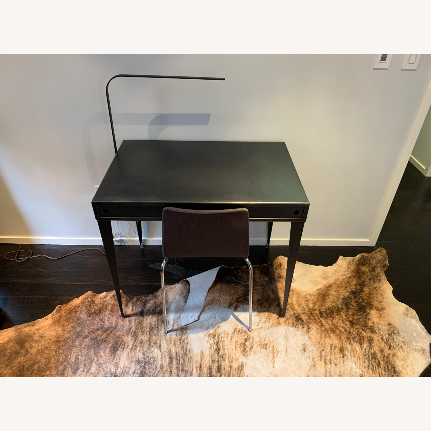 Steel Desk, LED lamp and Blu Dot Chair - image-1