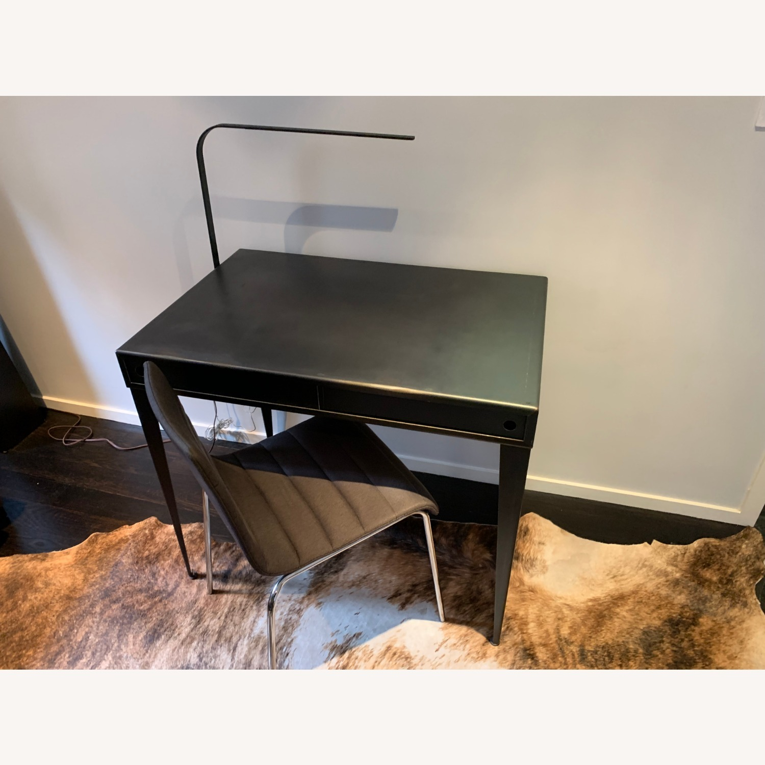 Steel Desk, LED lamp and Blu Dot Chair - image-2