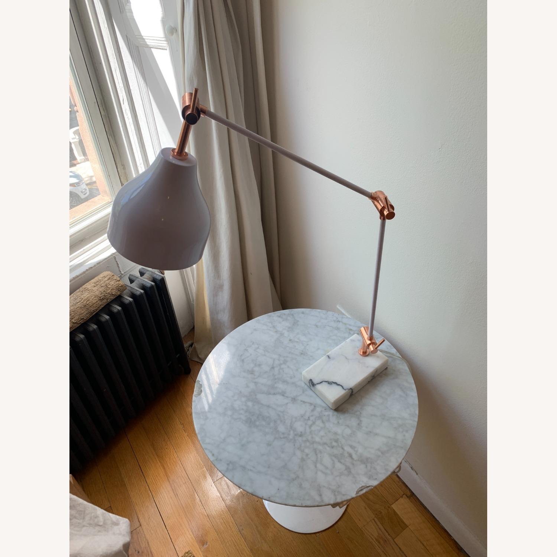 West Elm Stone Base Copper Adjustable Table Lamp - image-4