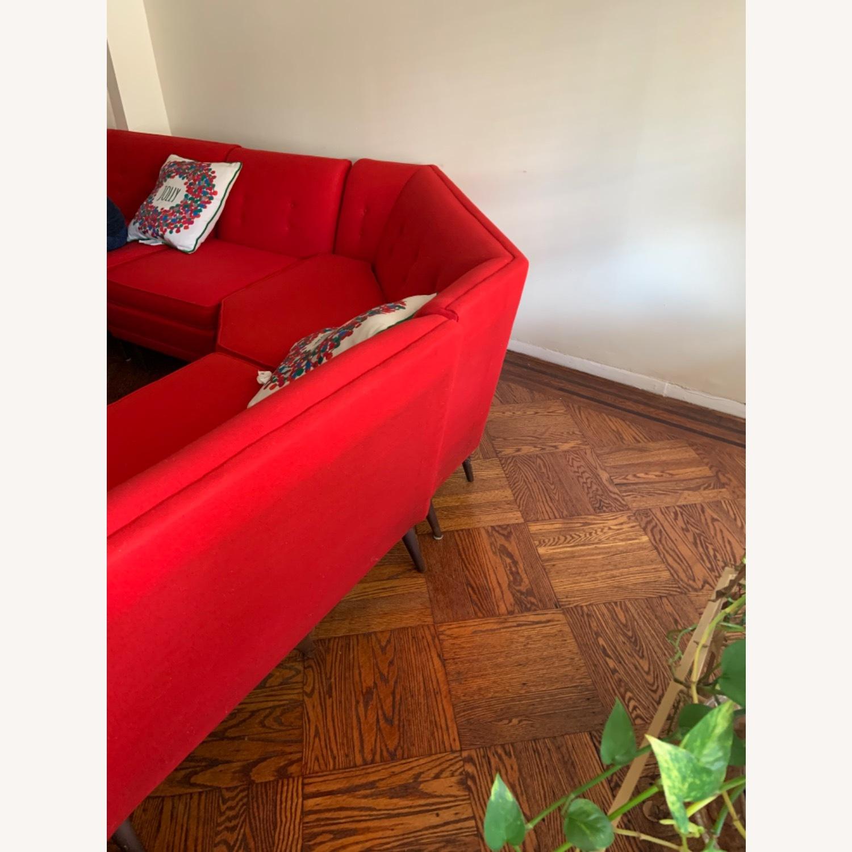 Kroehler Vintage Sectional Set in Bright Red - image-7
