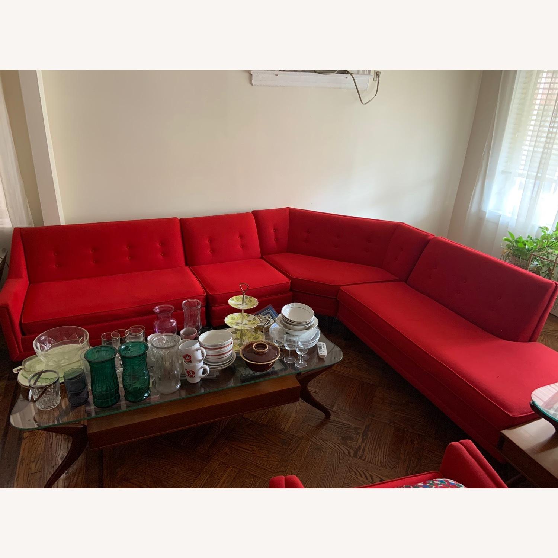 Kroehler Vintage Sectional Set in Bright Red - image-3