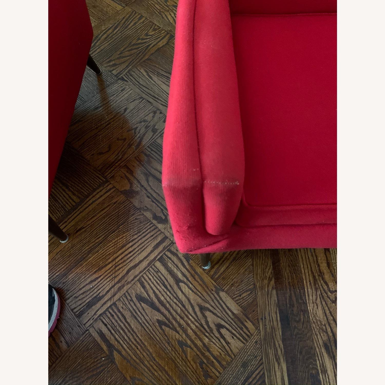 Kroehler Vintage Sectional Set in Bright Red - image-5