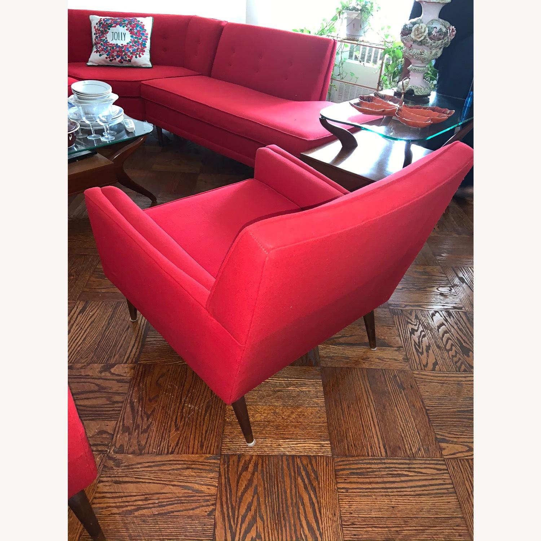 Kroehler Vintage Sectional Set in Bright Red - image-9