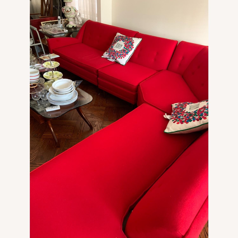 Kroehler Vintage Sectional Set in Bright Red - image-2