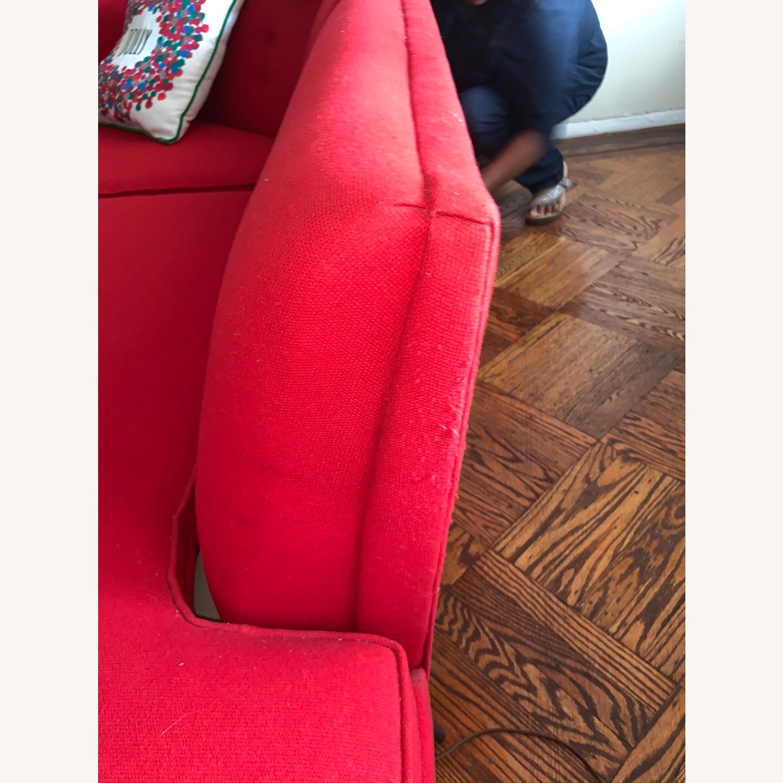 Kroehler Vintage Sectional Set in Bright Red - image-4