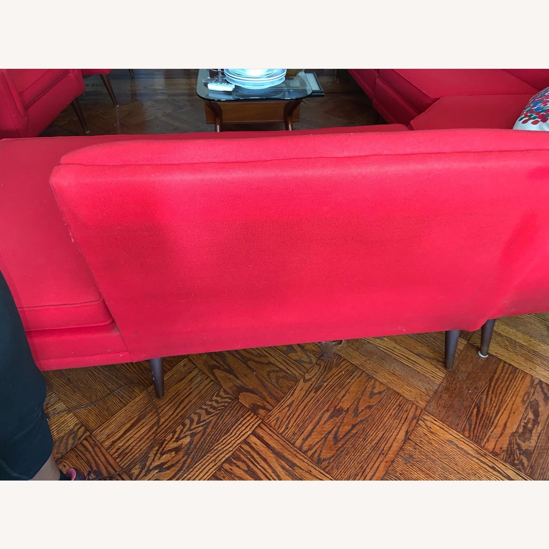 Kroehler Vintage Sectional Set in Bright Red - image-8