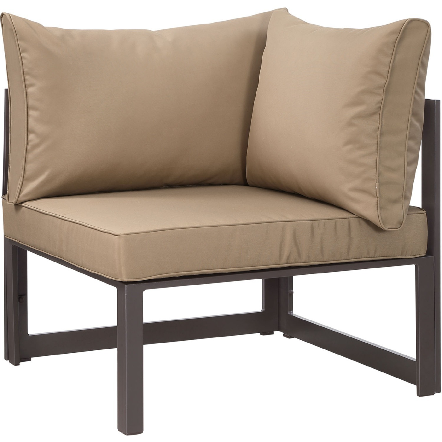 7-Piece Outdoor Sectional In Mocha & Brown Finish - image-3