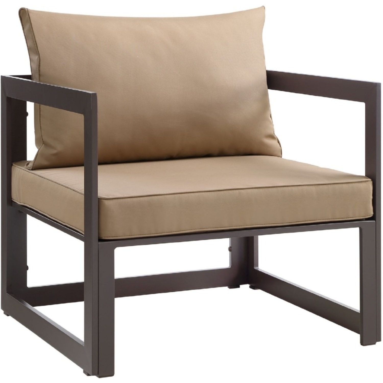 7-Piece Outdoor Sectional In Mocha & Brown Finish - image-7