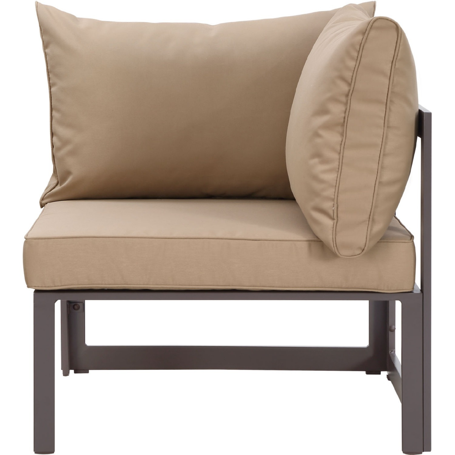 7-Piece Outdoor Sectional In Mocha & Brown Finish - image-4