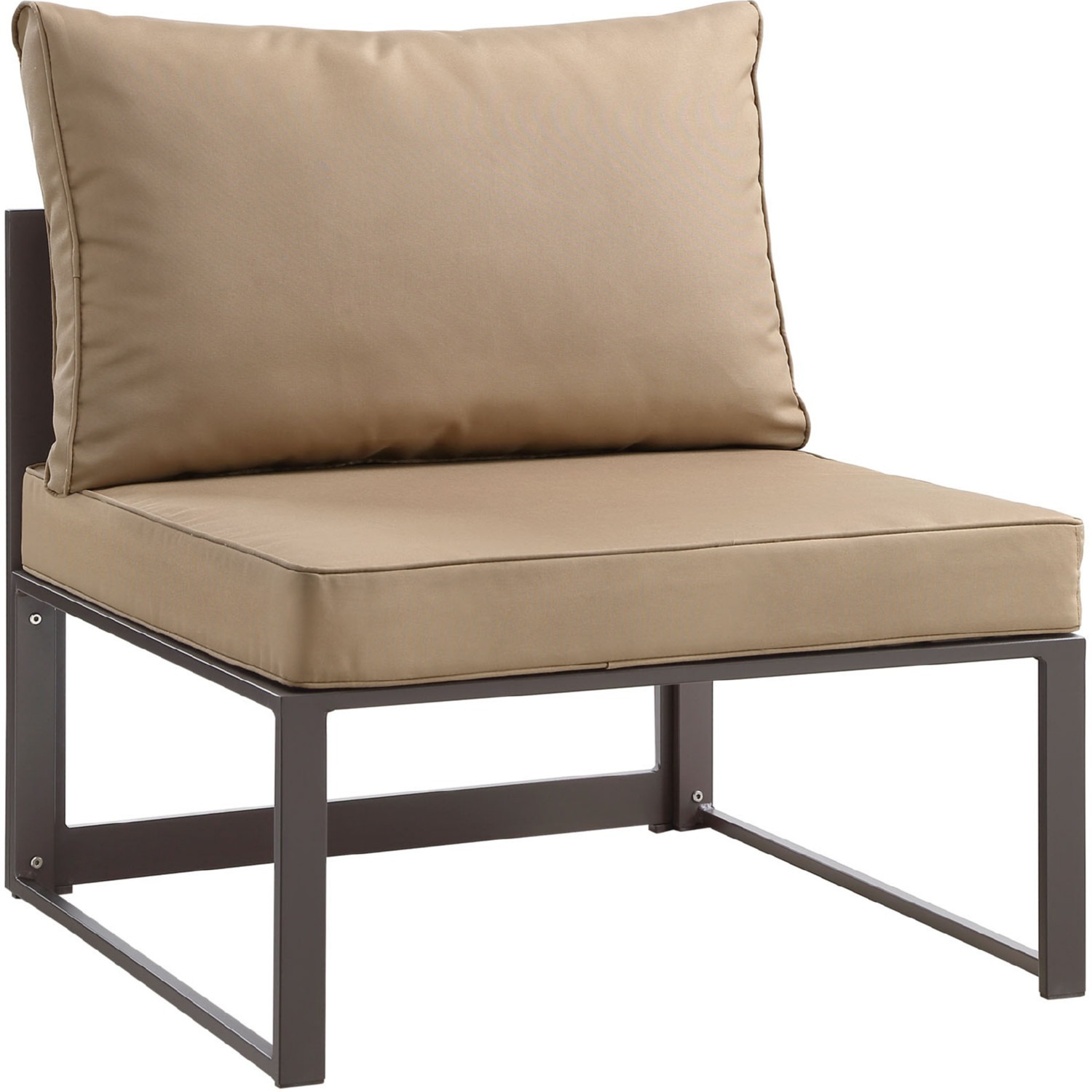 7-Piece Outdoor Sectional In Mocha & Brown Finish - image-5