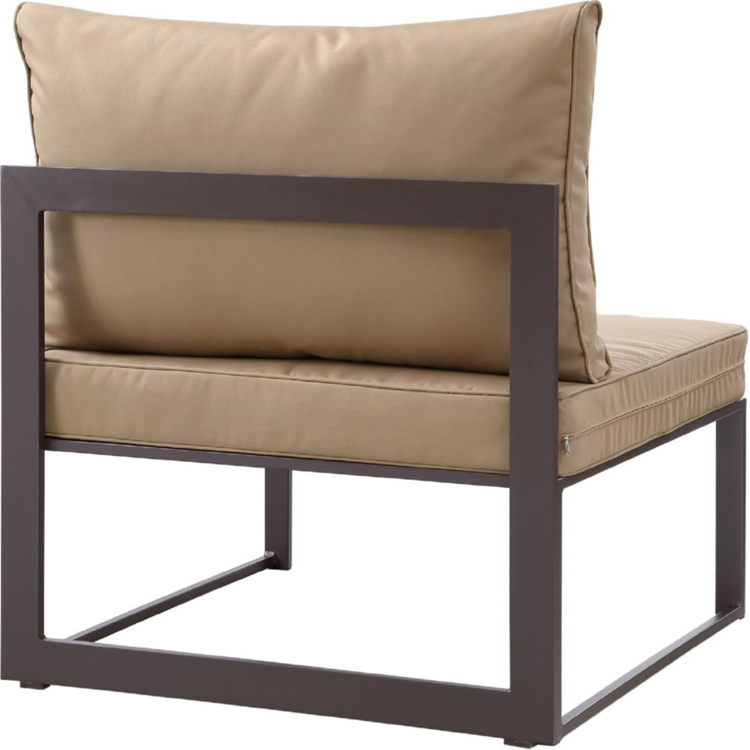 7-Piece Outdoor Sectional In Mocha & Brown Finish - image-6