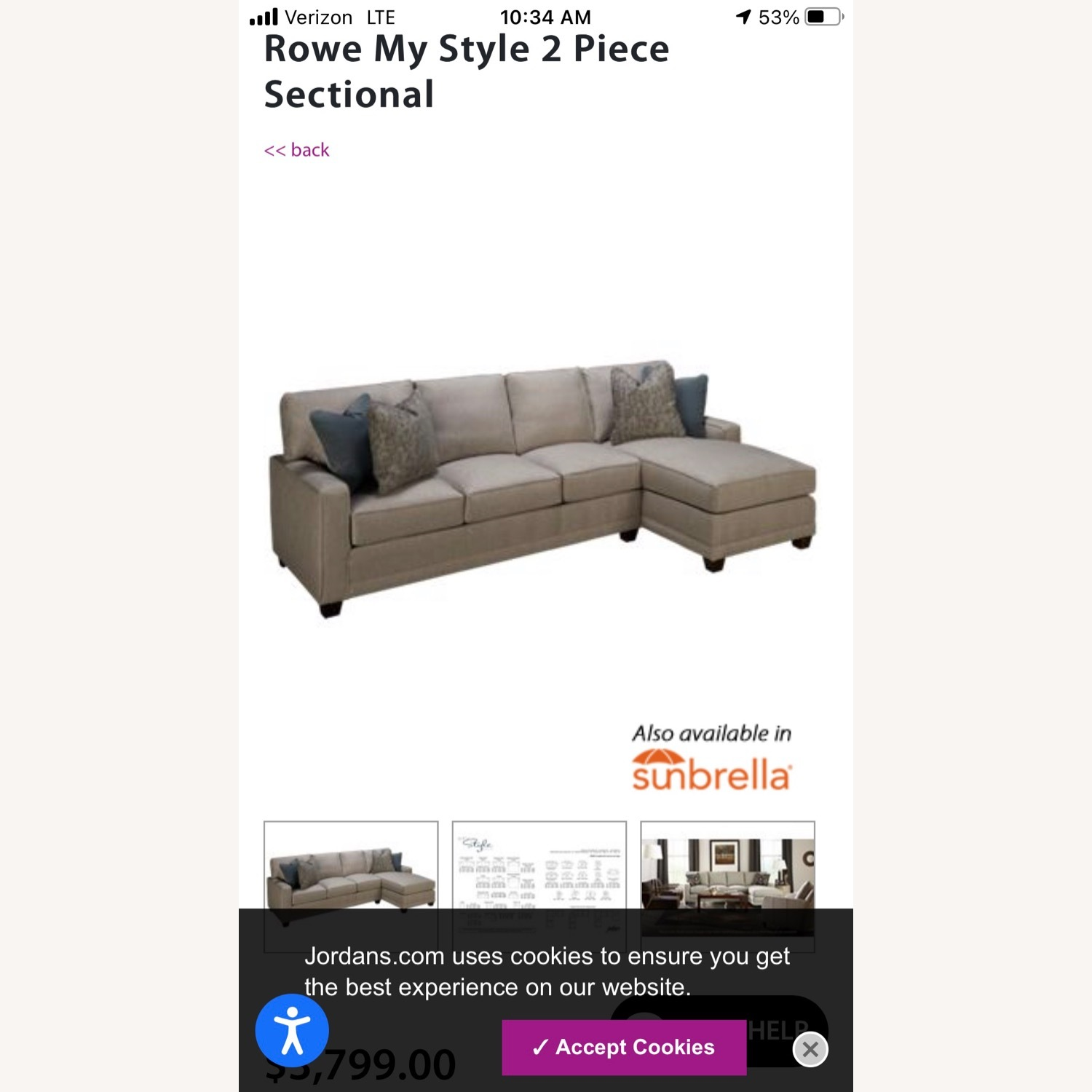 Rowe My Style 2 Piece Sectional - image-15