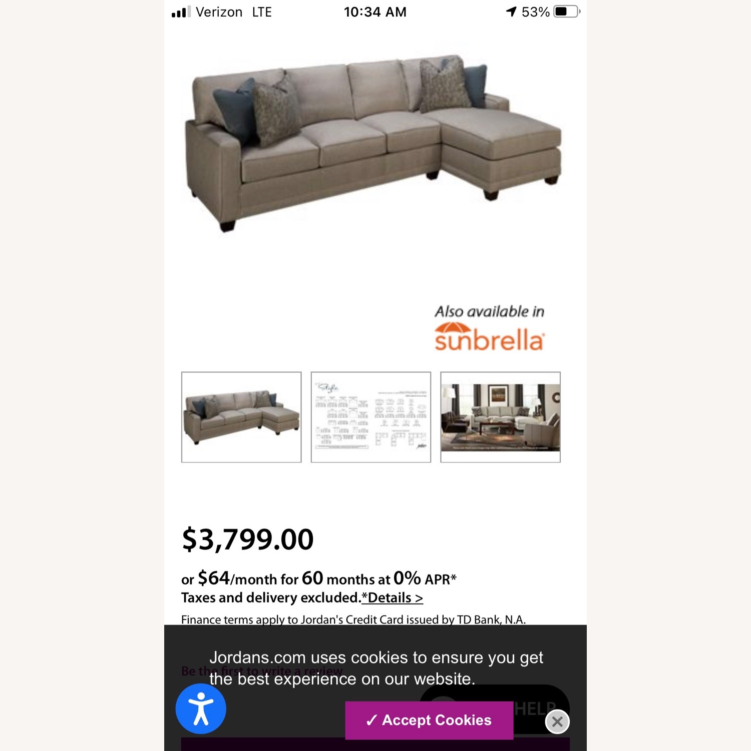 Rowe My Style 2 Piece Sectional - image-16