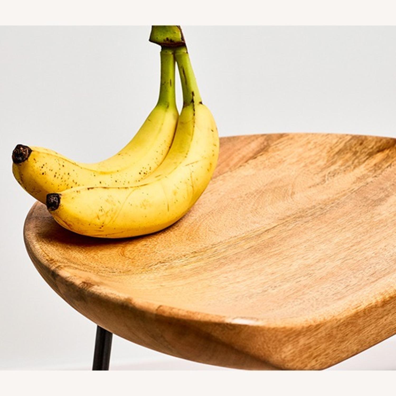 Wood Seat Metal Leg Counter Stool - image-2
