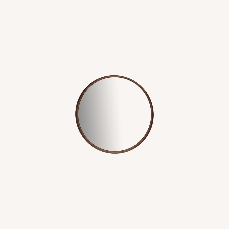 Round Metal Framed Mirror (Rose Gold) - image-0