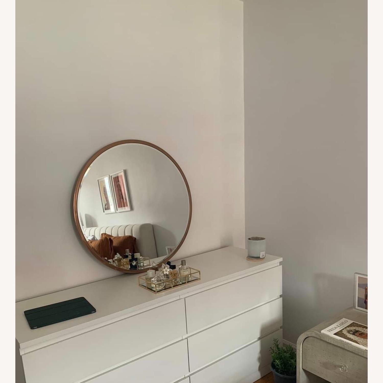 Round Metal Framed Mirror (Rose Gold) - image-2