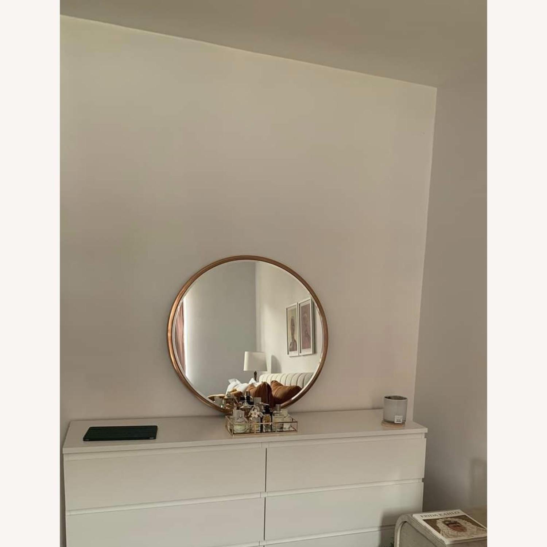 Round Metal Framed Mirror (Rose Gold) - image-1