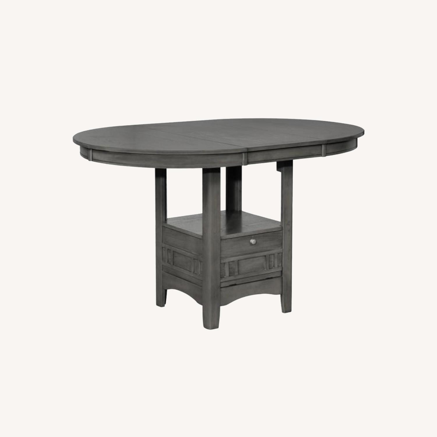Counter Dining Table In Medium Gray Finish - image-5