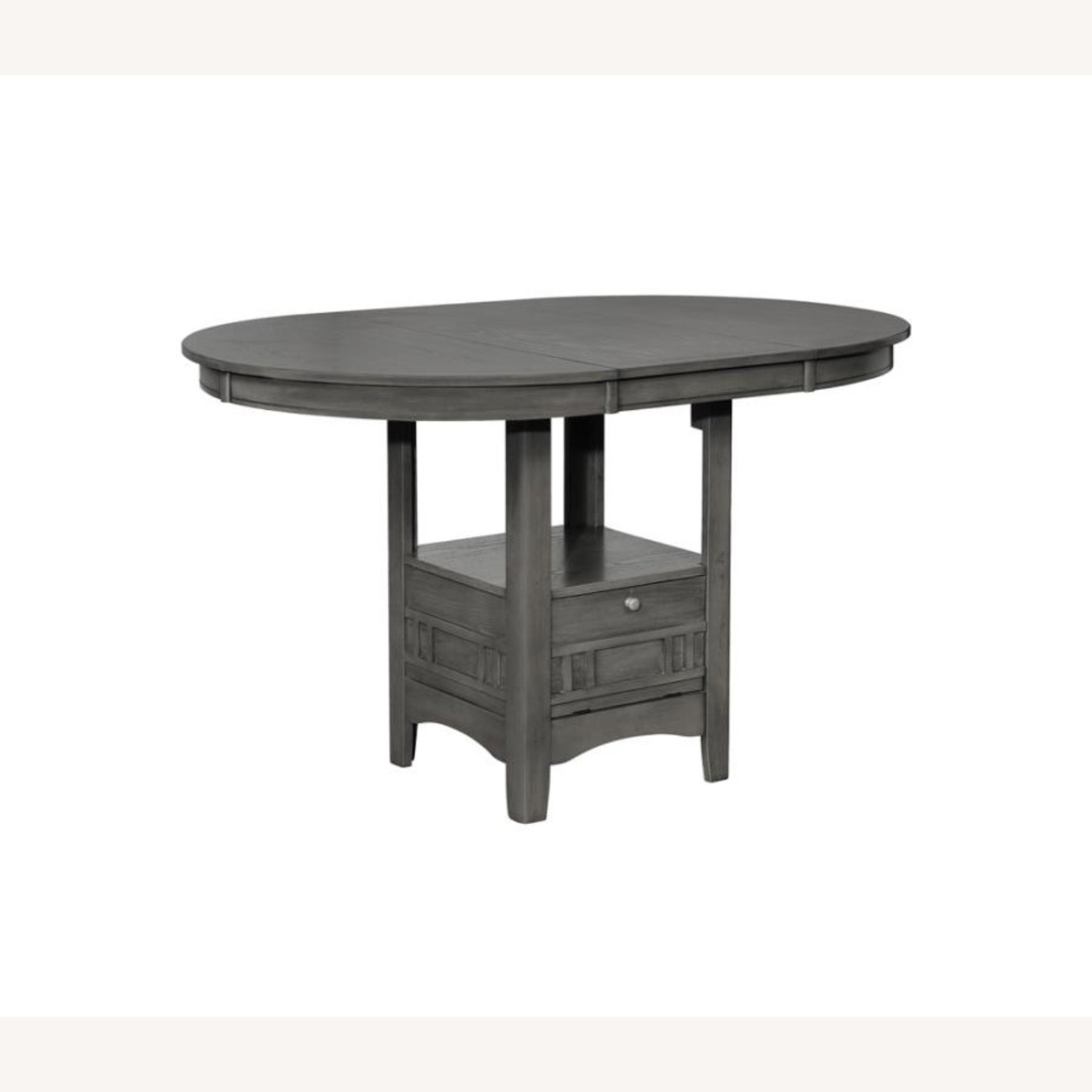 Counter Dining Table In Medium Gray Finish - image-0