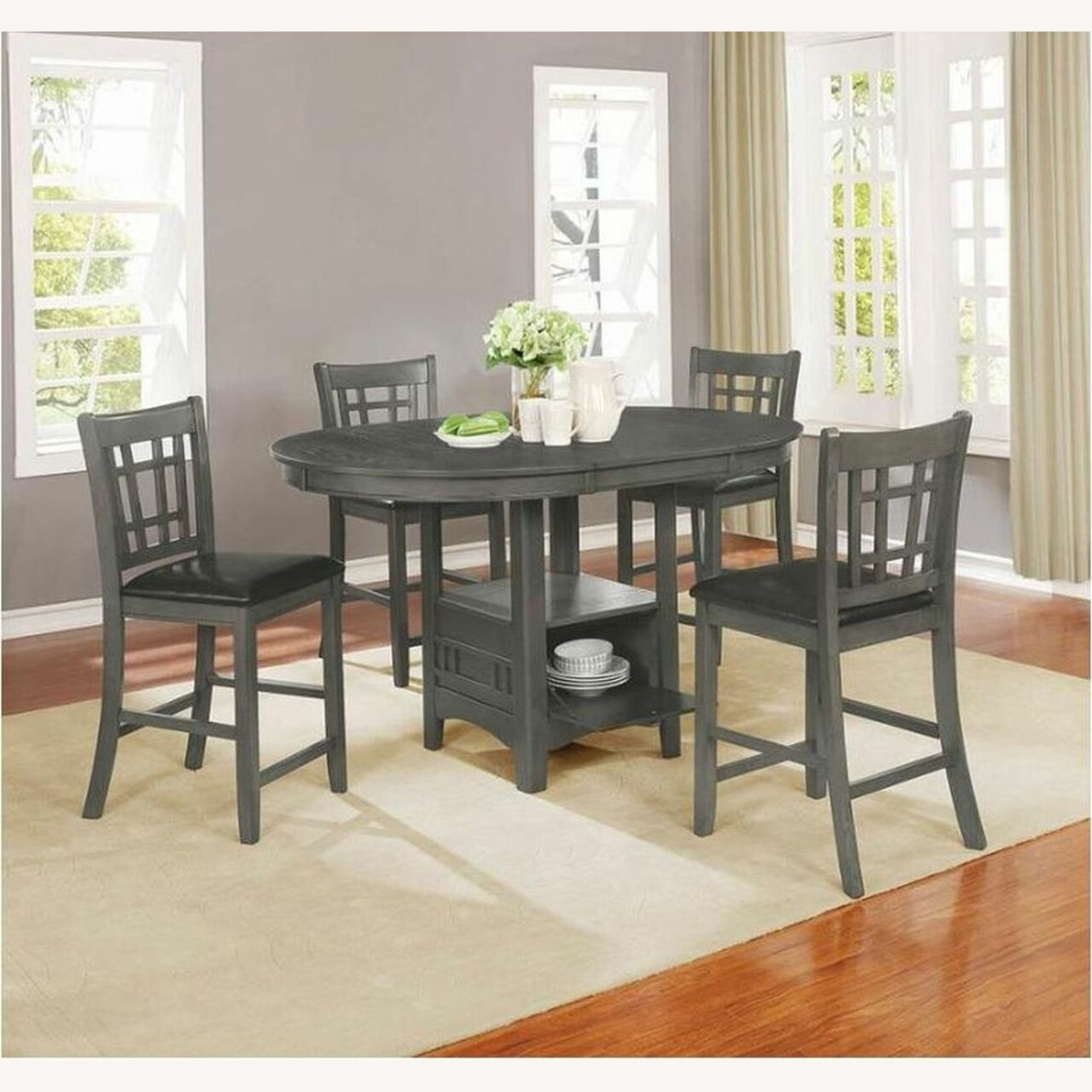Counter Dining Table In Medium Gray Finish - image-3