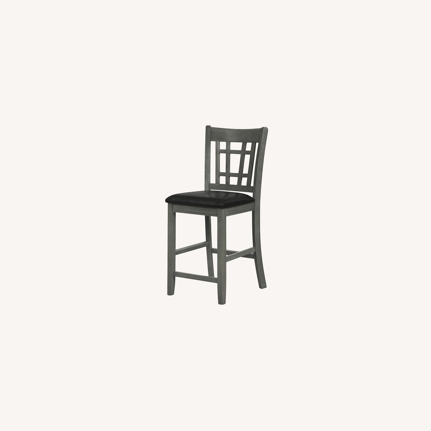 Counter Height Chair In Medium Gray Finish - image-9