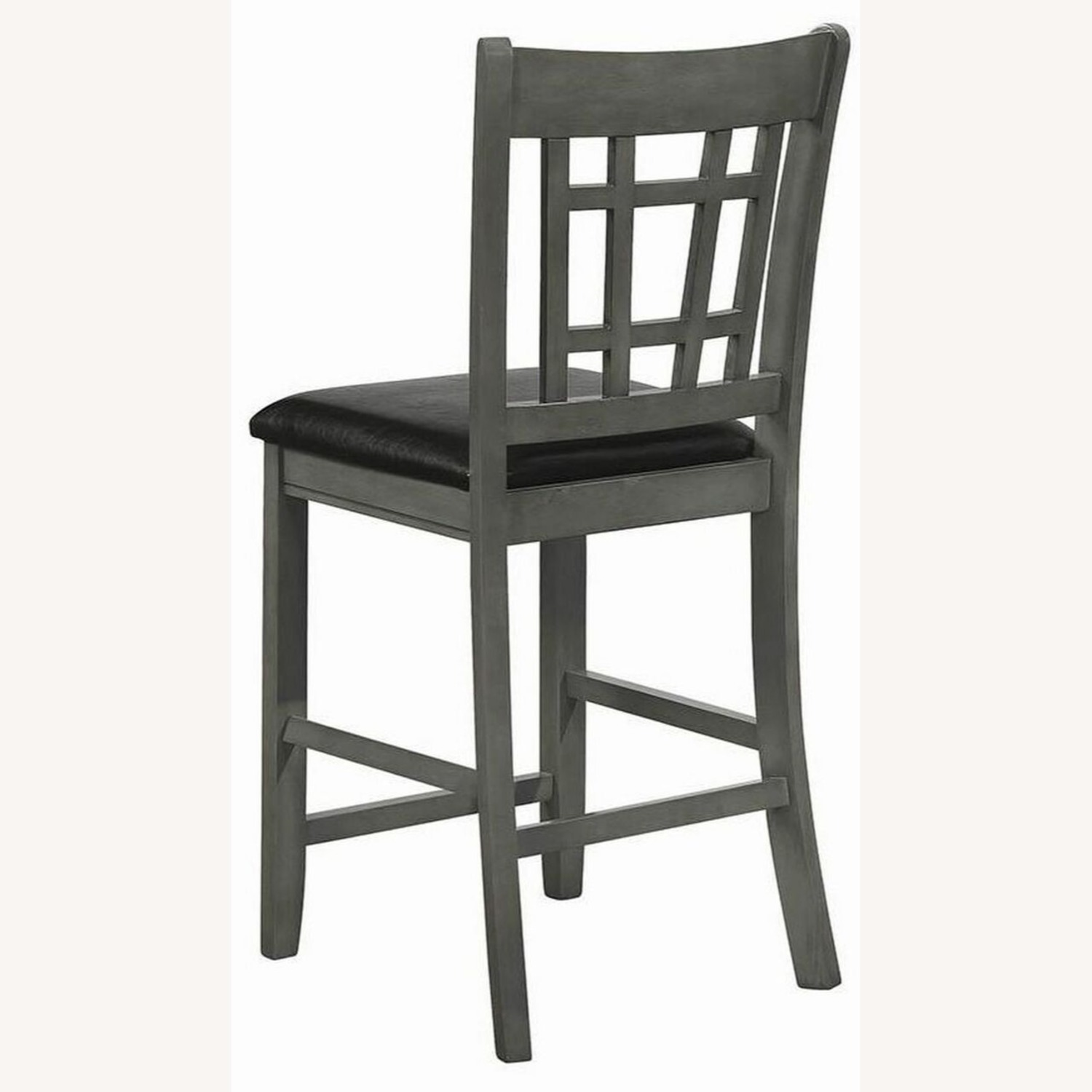 Counter Height Chair In Medium Gray Finish - image-5