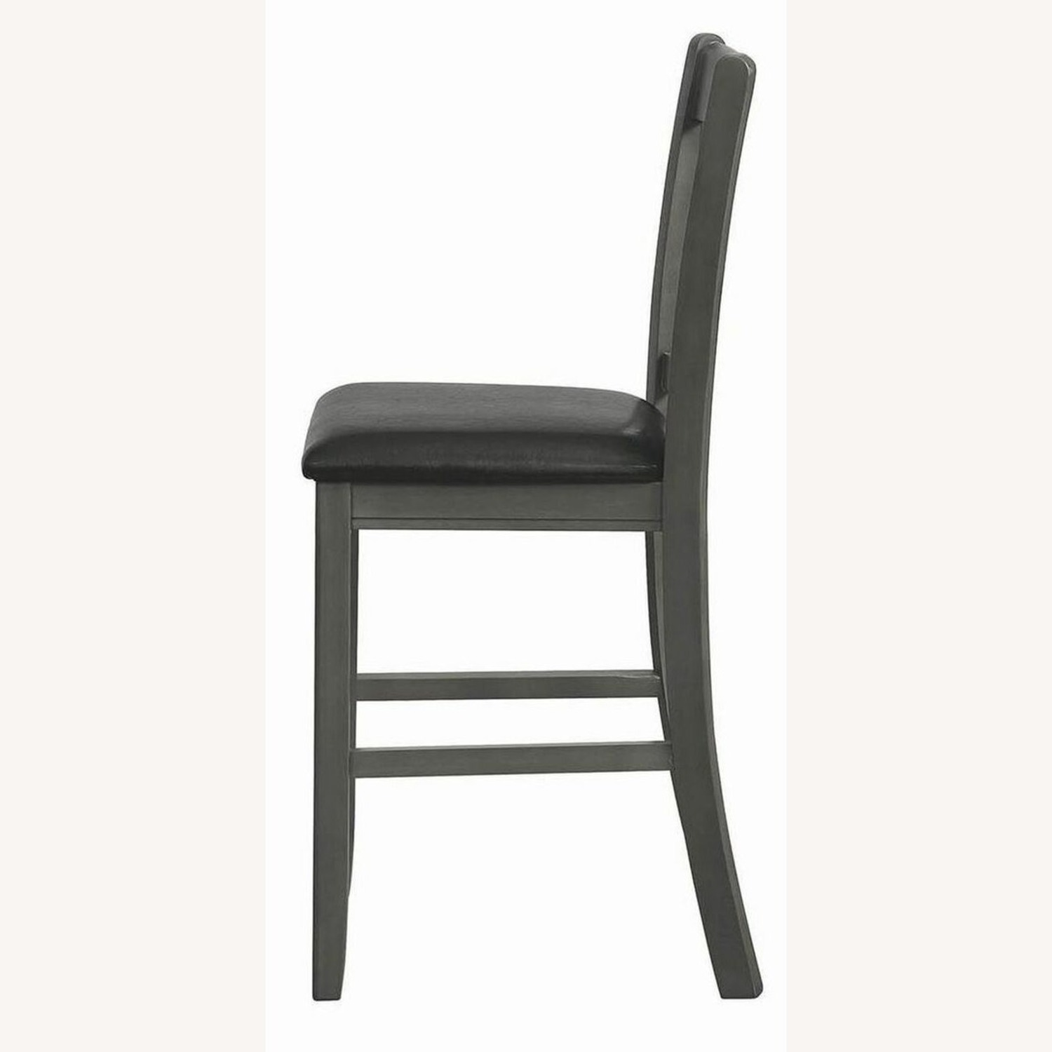 Counter Height Chair In Medium Gray Finish - image-4
