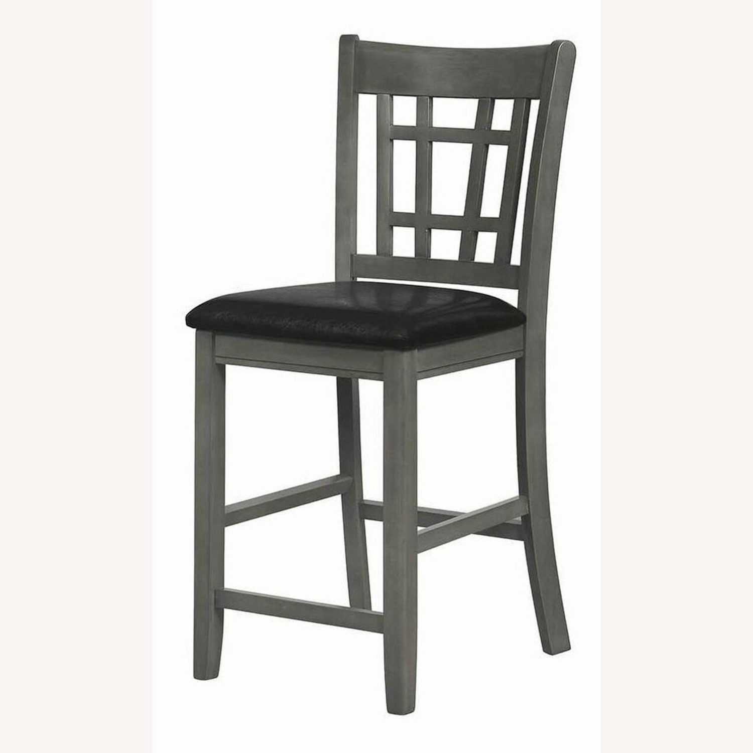 Counter Height Chair In Medium Gray Finish - image-0