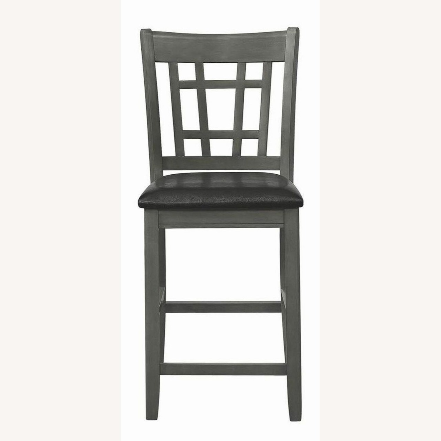 Counter Height Chair In Medium Gray Finish - image-2