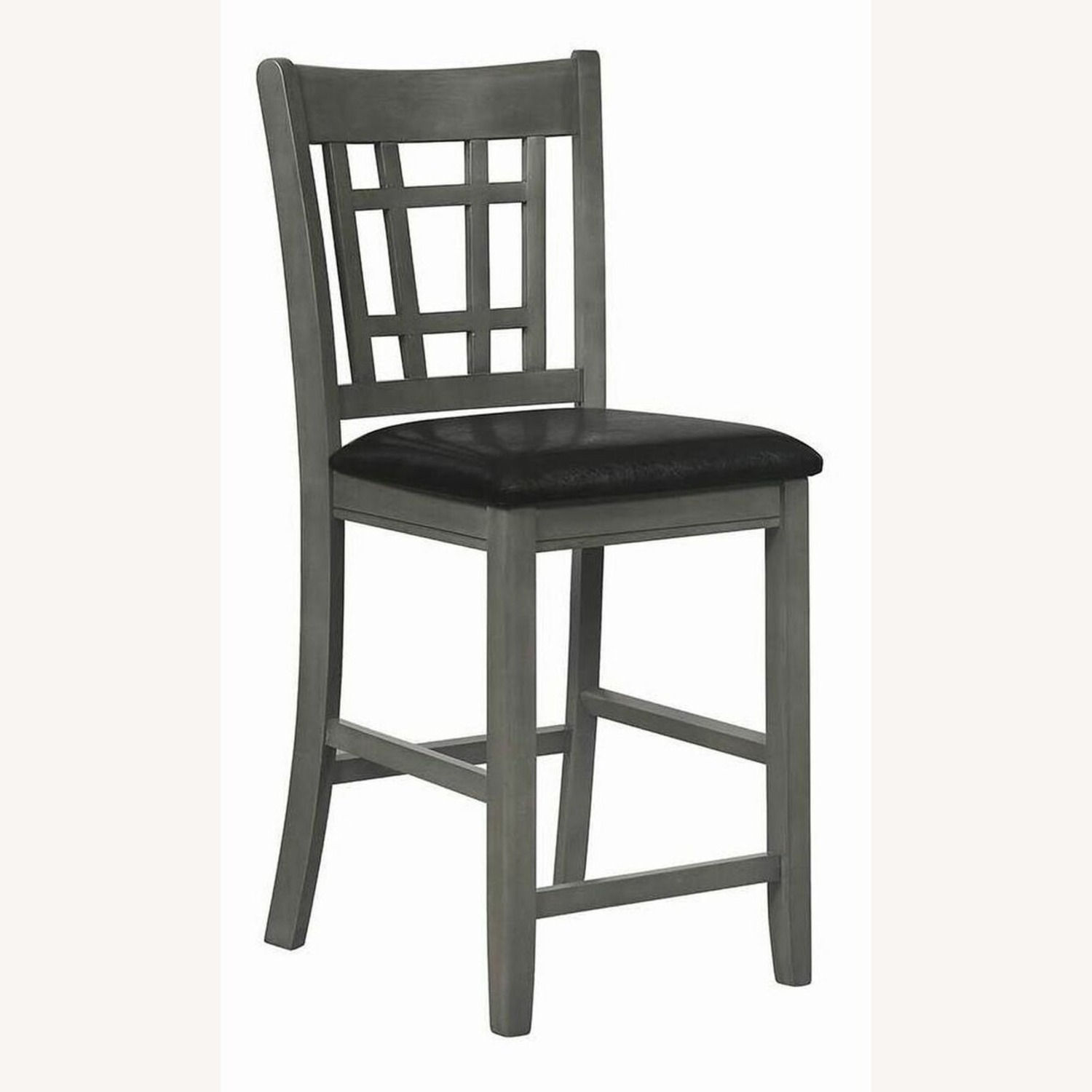 Counter Height Chair In Medium Gray Finish - image-1