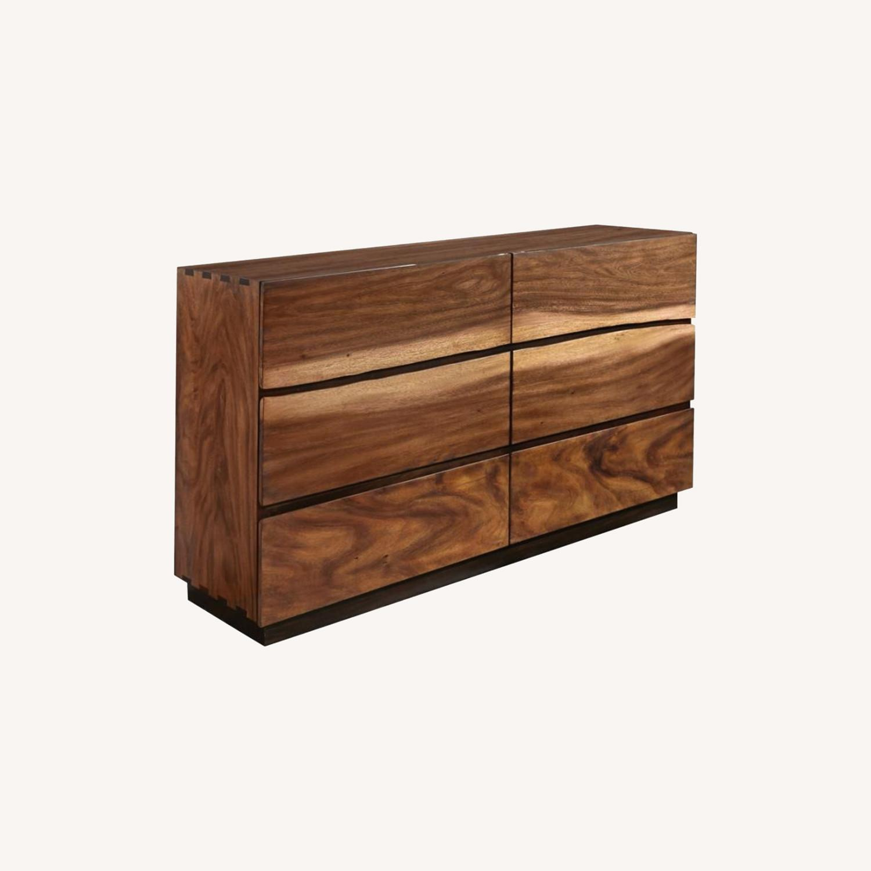Dresser In Smokey Walnut & Coffee Bean Finish - image-4