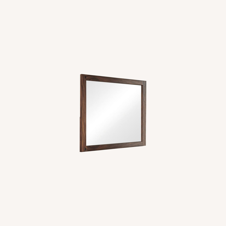 Mirror In Smokey Walnut Wood Finish - image-4
