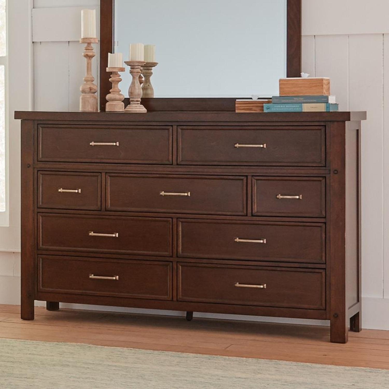 Dresser In Pinot Noir & Nickel Brushed Finish - image-5