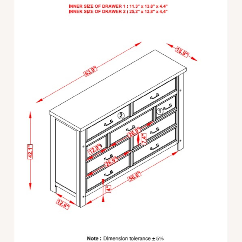 Dresser In Pinot Noir & Nickel Brushed Finish - image-6