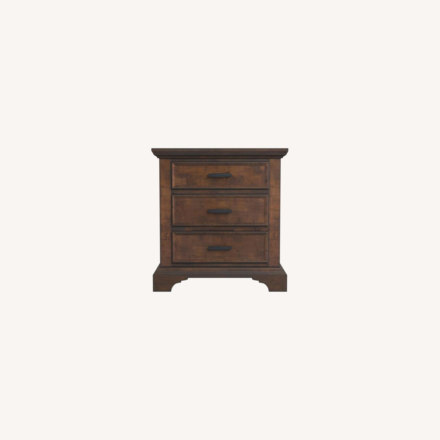 Nightstand In Vintage Bourbon & Rustic Finish - image-8