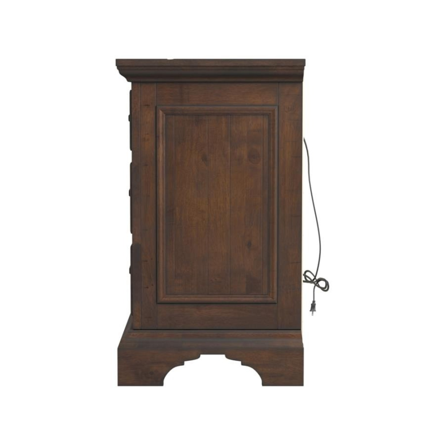 Nightstand In Vintage Bourbon & Rustic Finish - image-5