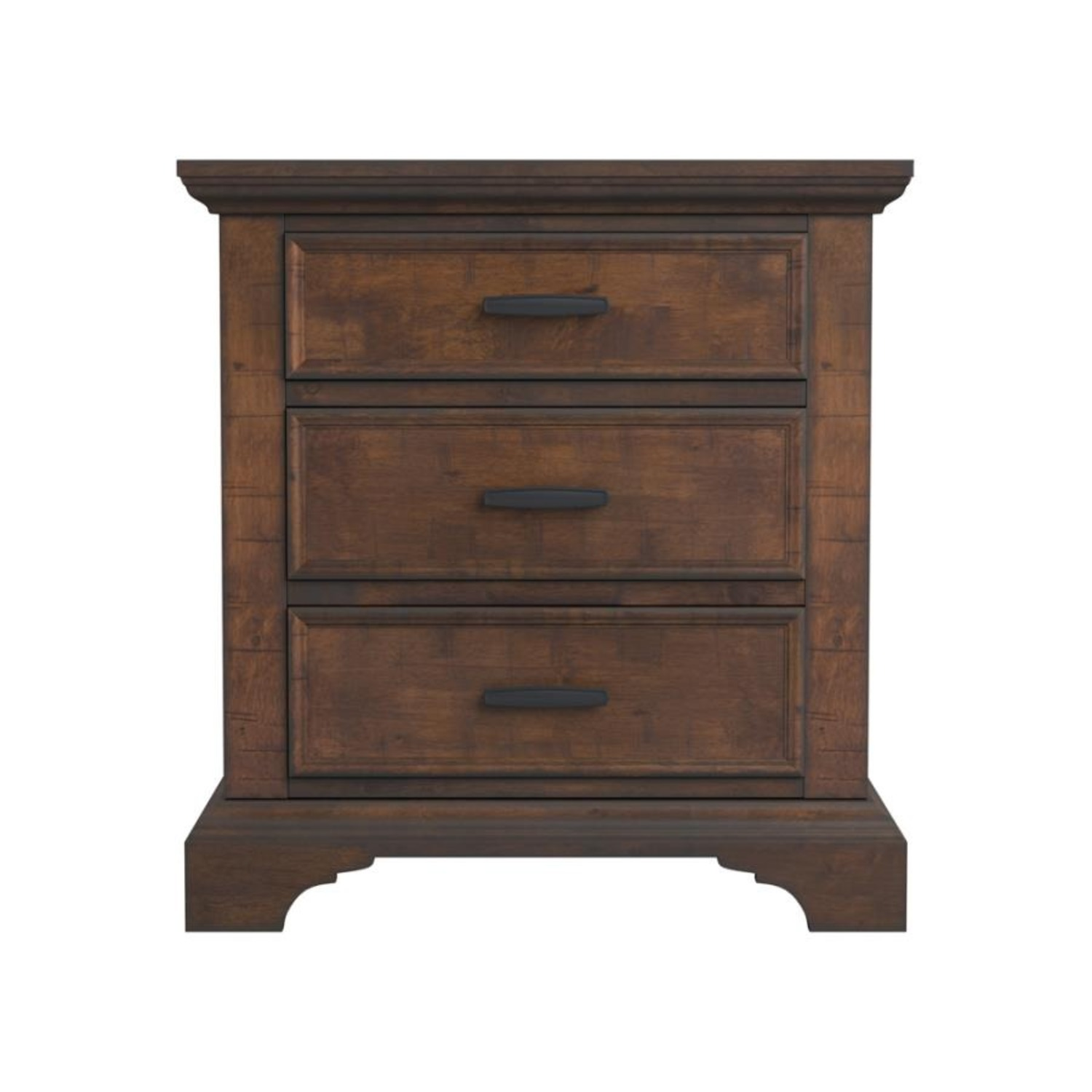 Nightstand In Vintage Bourbon & Rustic Finish - image-0