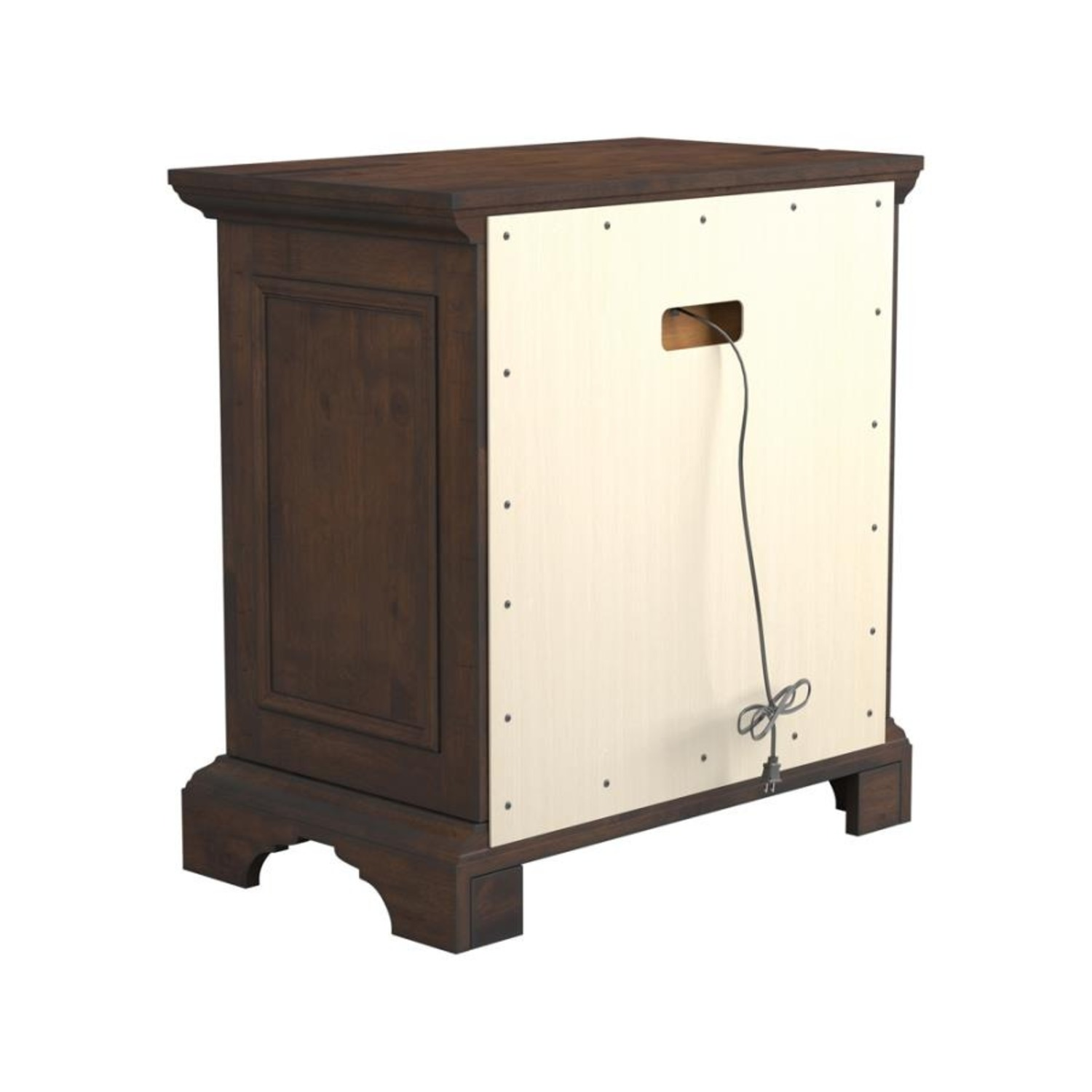 Nightstand In Vintage Bourbon & Rustic Finish - image-4