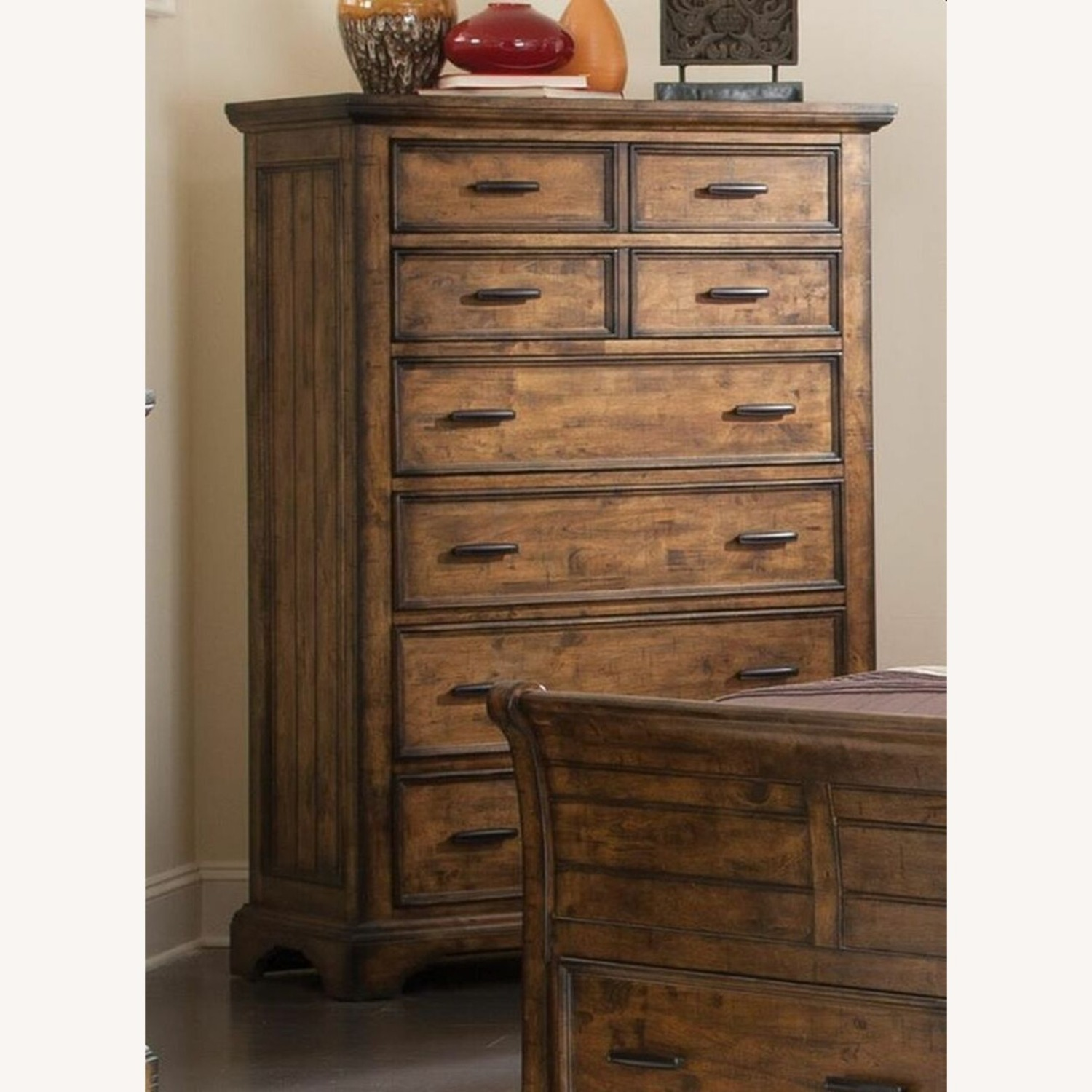 Chest In Vintage Bourbon & Rustic Finish - image-1