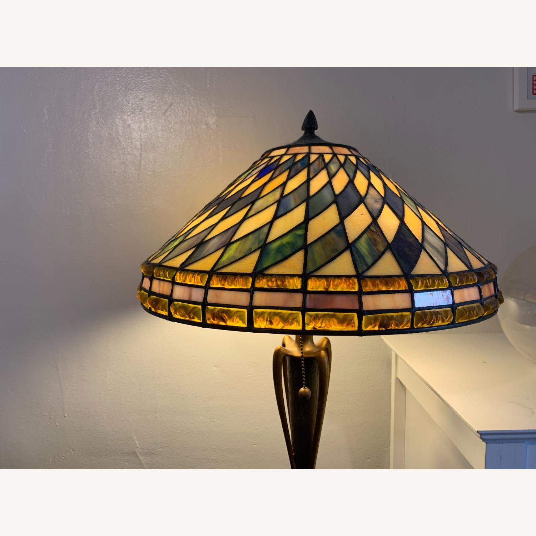 "Stained Glass - Art Deco Quoziel 60"" Floor Lamp - image-4"