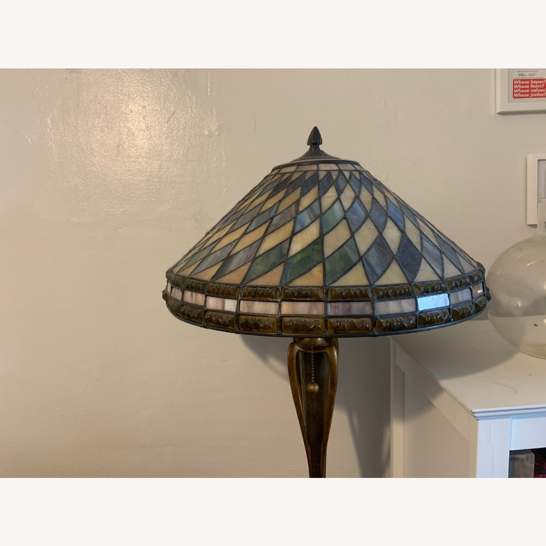"Stained Glass - Art Deco Quoziel 60"" Floor Lamp - image-3"