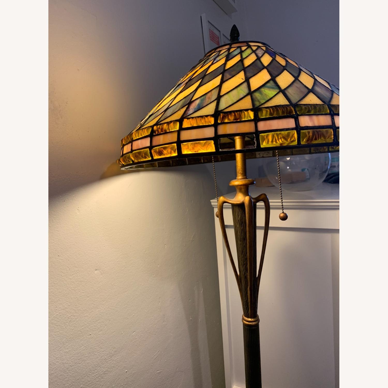 "Stained Glass - Art Deco Quoziel 60"" Floor Lamp - image-2"
