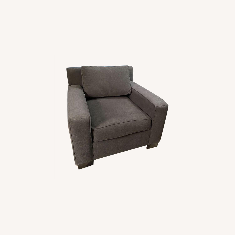 West Elm Dark Grey Henry Chair - image-0