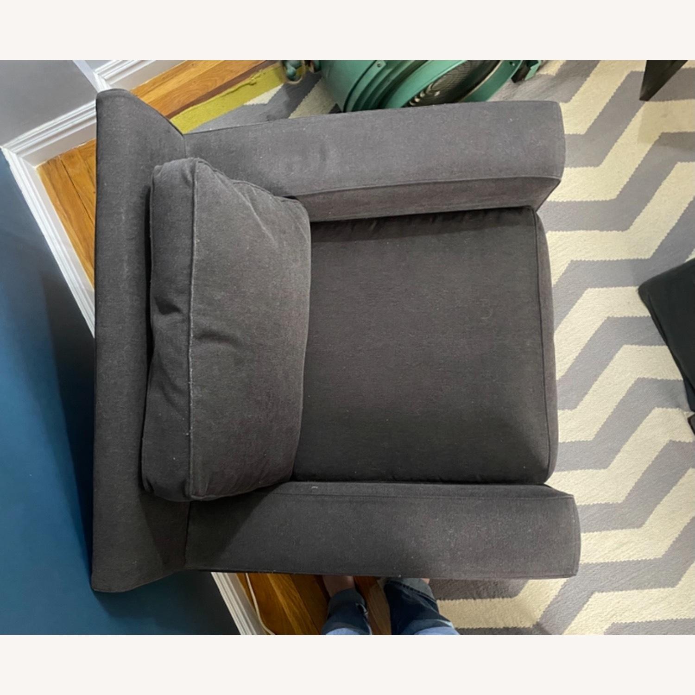 West Elm Dark Grey Henry Chair - image-7