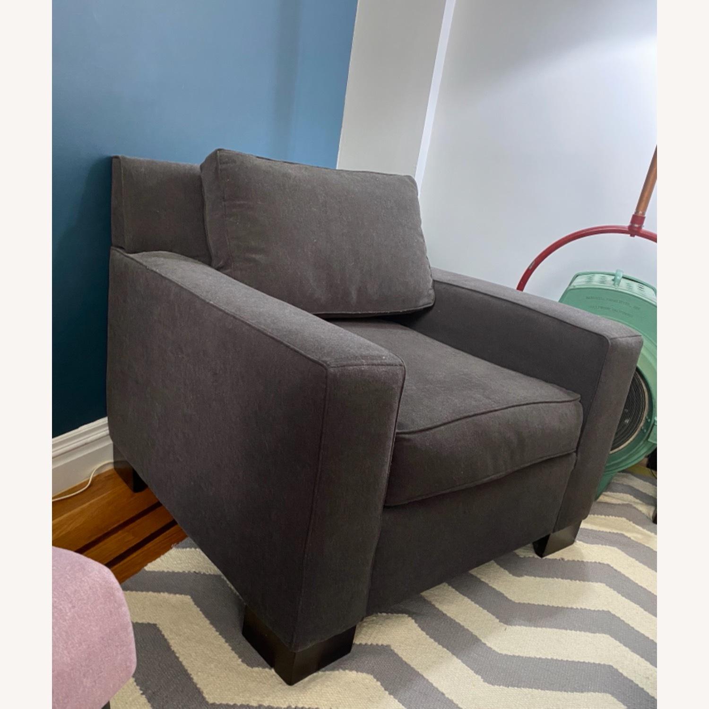 West Elm Dark Grey Henry Chair - image-2