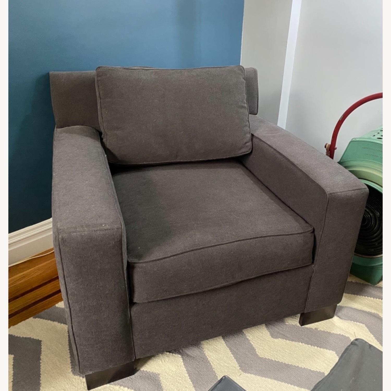 West Elm Dark Grey Henry Chair - image-1