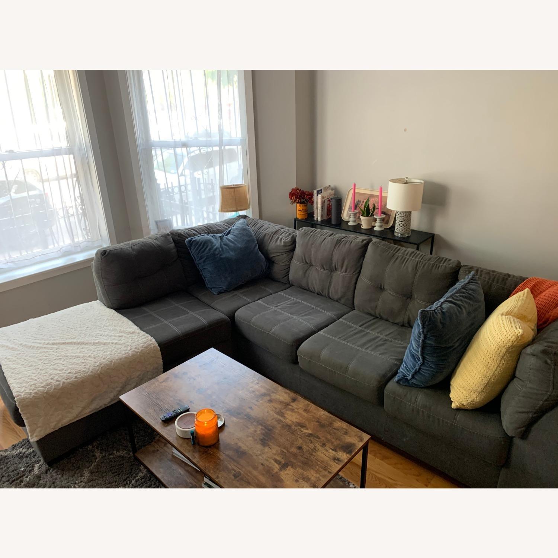 Raymour & Flanigan Desmond 2 Piece Sectional Sofa - image-1