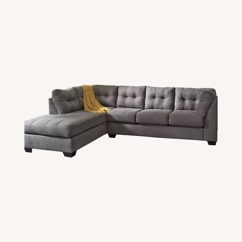 Raymour & Flanigan Desmond 2 Piece Sectional Sofa - image-0