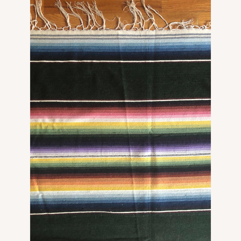 Large 1950's Mexican Saltillo Serape Rug - image-5